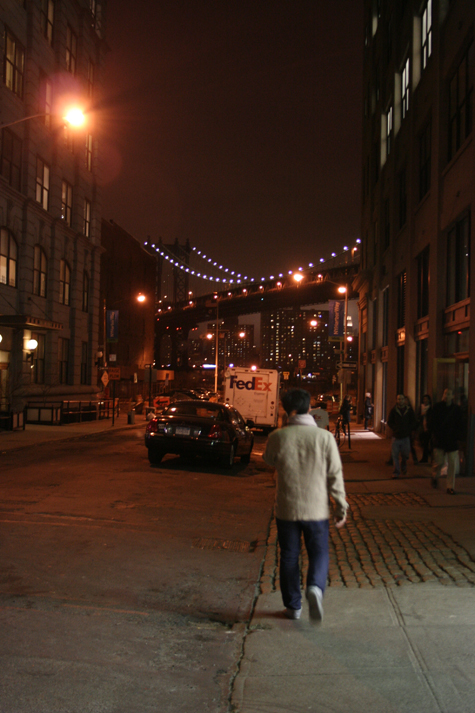 Pics of the Week Color at Night ::: Walking Down the Street © Angela R. Martinez