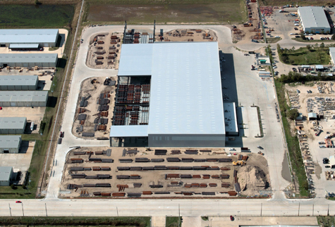 Tube Supply Warehouse Aerial Shot for Brave Architecture Houston Architecture Firm Houston Architects