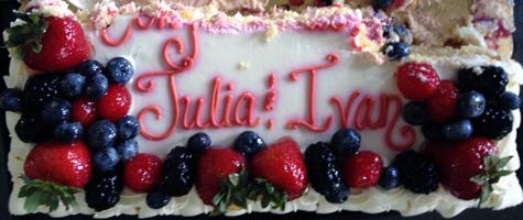 Congratulations Julia and Ivan!